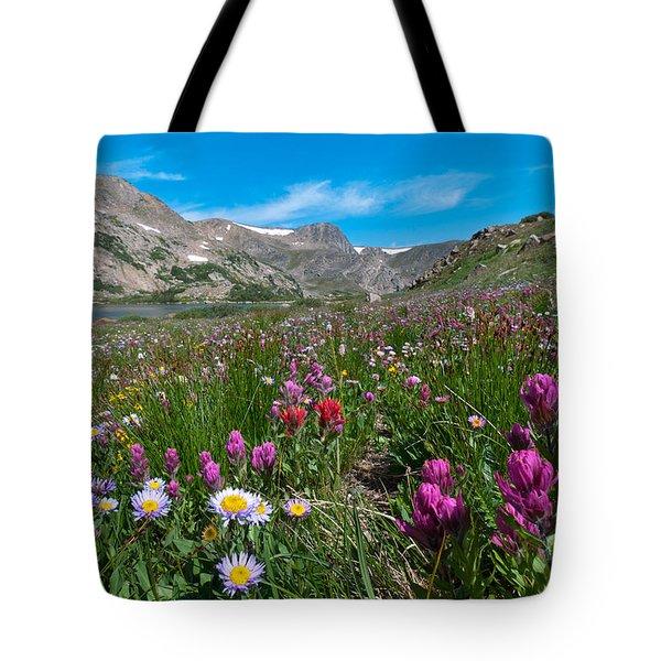 King Lake Summer Landscape Tote Bag