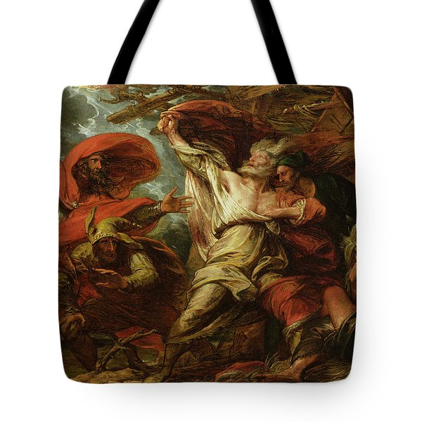 King Lear Tote Bag by Benjamin West