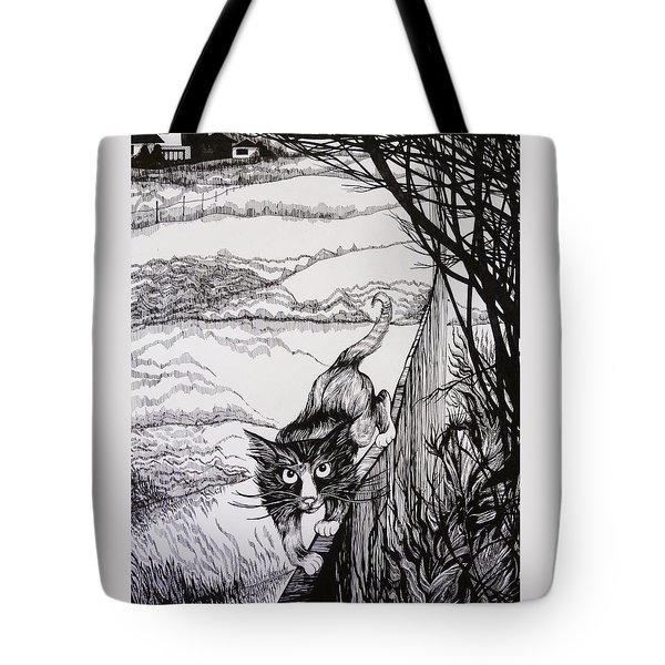 Tote Bag featuring the drawing King Of Midnapore by Anna  Duyunova