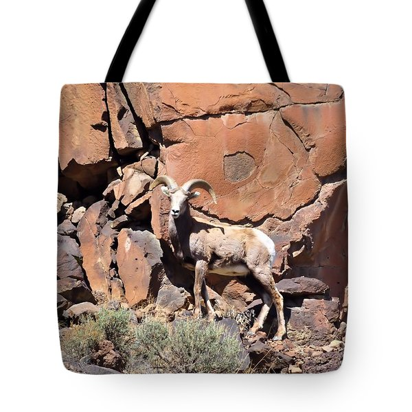 King Of The Cliff Tote Bag