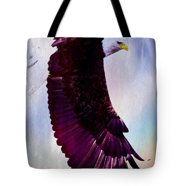 Tote Bag featuring the painting King Of The Skies by Mark Taylor
