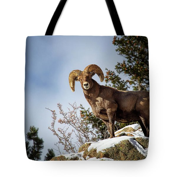 King On The Mountain Tote Bag