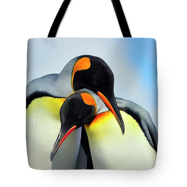 King Penguin Tote Bag by Tony Beck