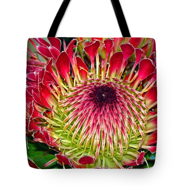 King Protea Tote Bag by Michael Durst