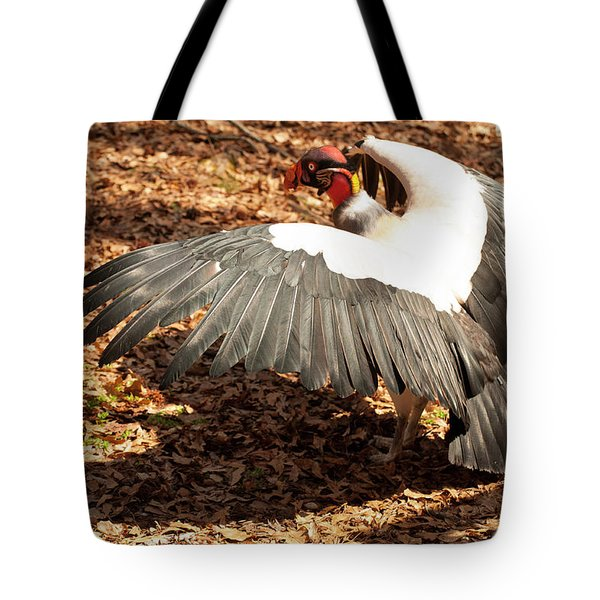 King Vulture 3 Strutting Tote Bag by Chris Flees