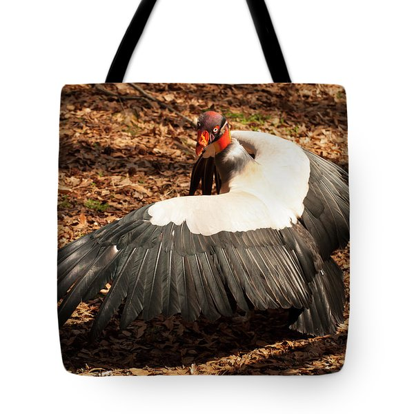 King Vulture 4 Strutting Tote Bag by Chris Flees