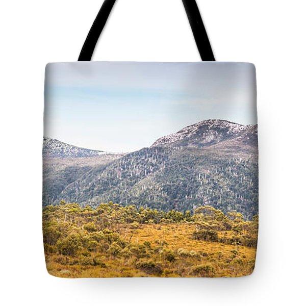 King William Range. Australia Mountain Panorama Tote Bag
