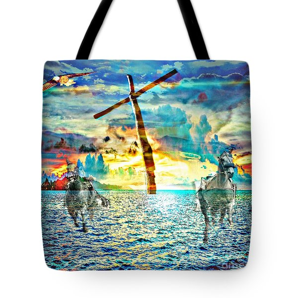 Tote Bag featuring the digital art Kingdom Come by Jessica Eli