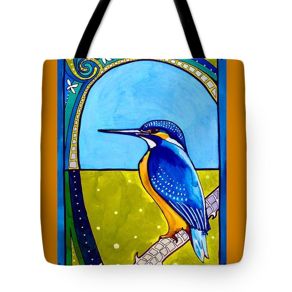 Kingfisher Tote Bag by Dora Hathazi Mendes