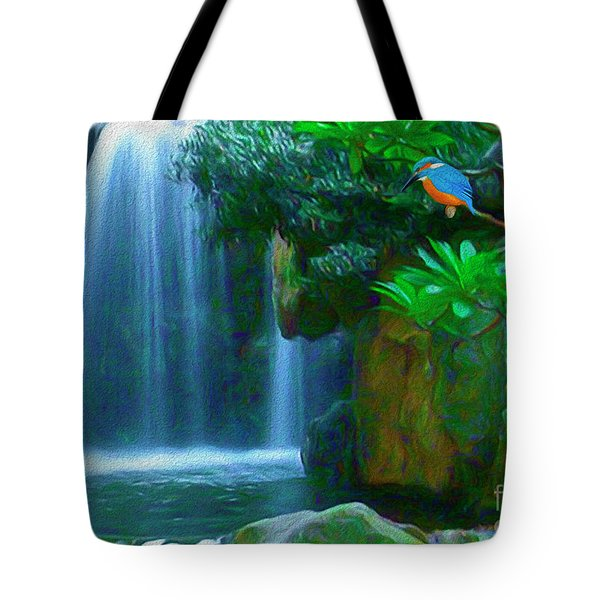 Kingfisher Falls Tote Bag