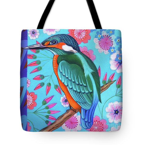 Kingfisher Tote Bag by Jane Tattersfield
