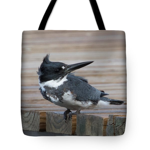 Kingfisher Looks Back Tote Bag