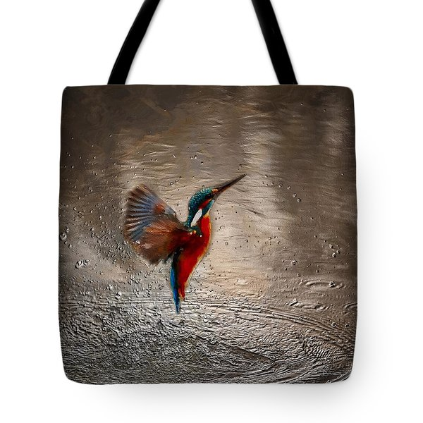 Tote Bag featuring the painting Kingfisher by Mark Taylor