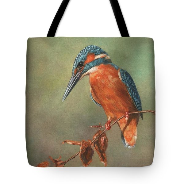 Kingfisher Perched Tote Bag
