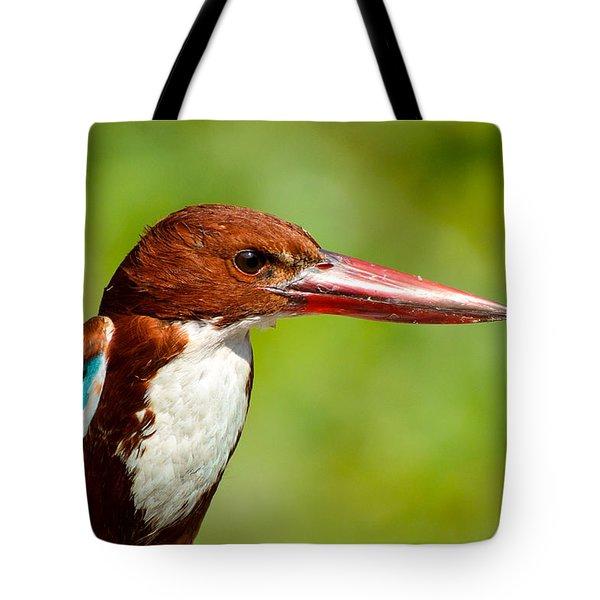 Kingfisher_portrait Tote Bag