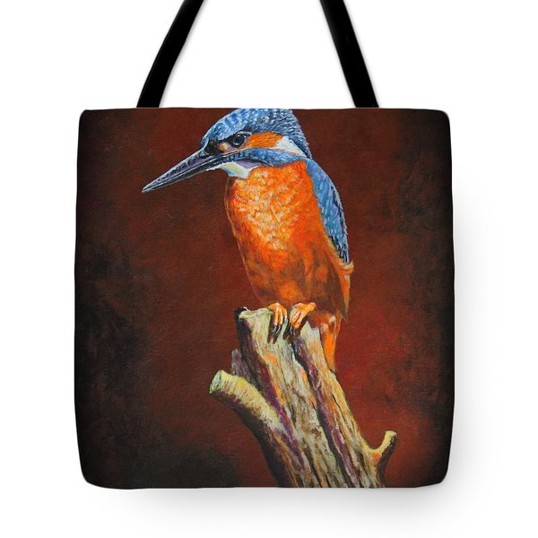 Kingfish.....waiting For Dinner Tote Bag