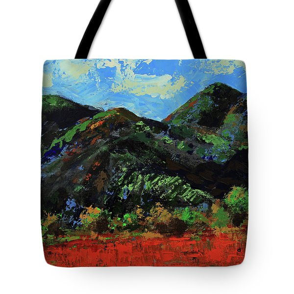 Tote Bag featuring the painting Kings Canyon Fall Colors by Walter Fahmy