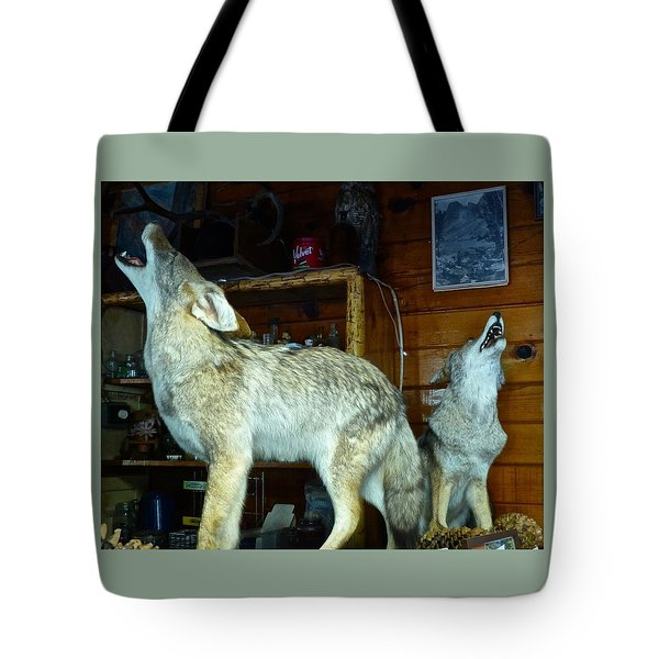 Kings Canyon Lodge Coyotes Tote Bag by Amelia Racca
