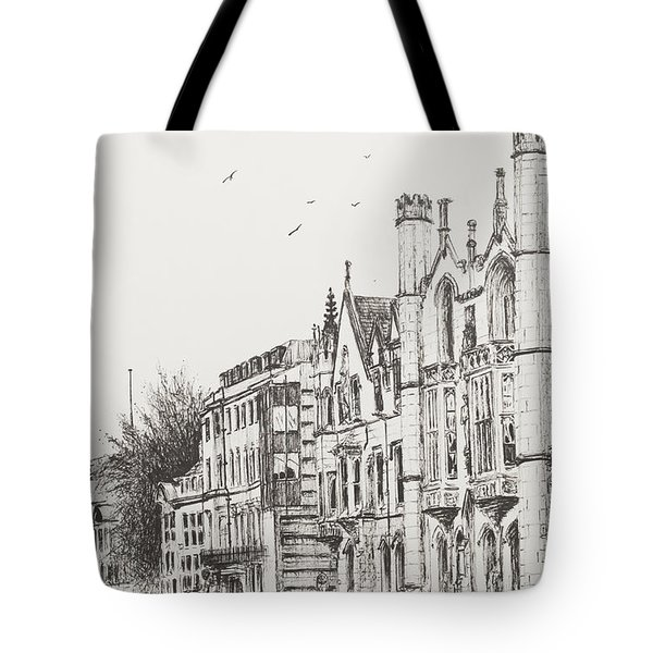 Kings College Cambridge Tote Bag