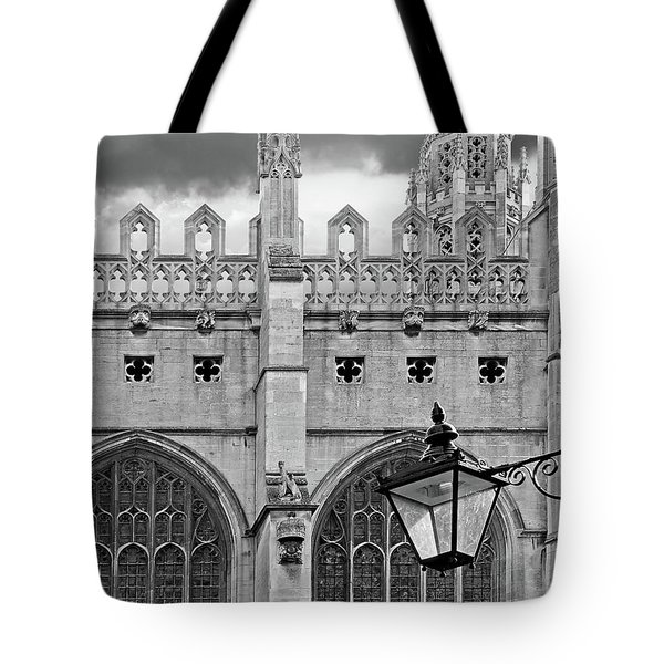 Tote Bag featuring the photograph Kings College Chapel Cambridge Exterior Detail by Gill Billington