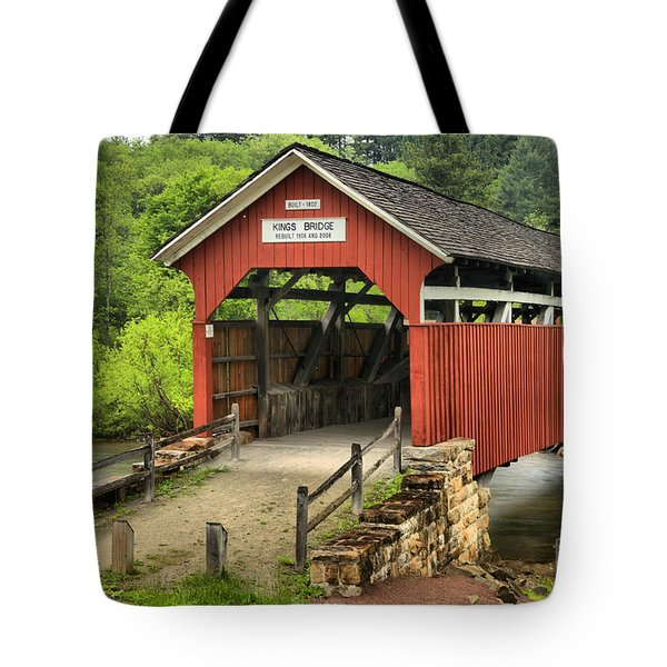 Kings Covered Bridge Somerset Pa Tote Bag