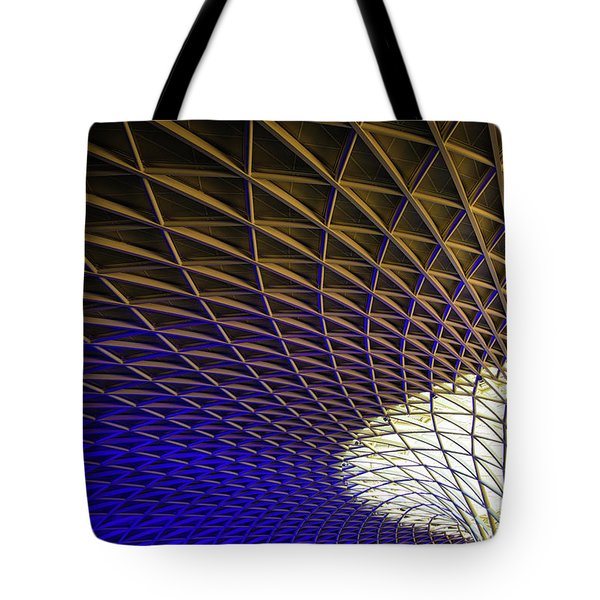 Tote Bag featuring the photograph Kings Cross Railway Station Roof by Matthias Hauser