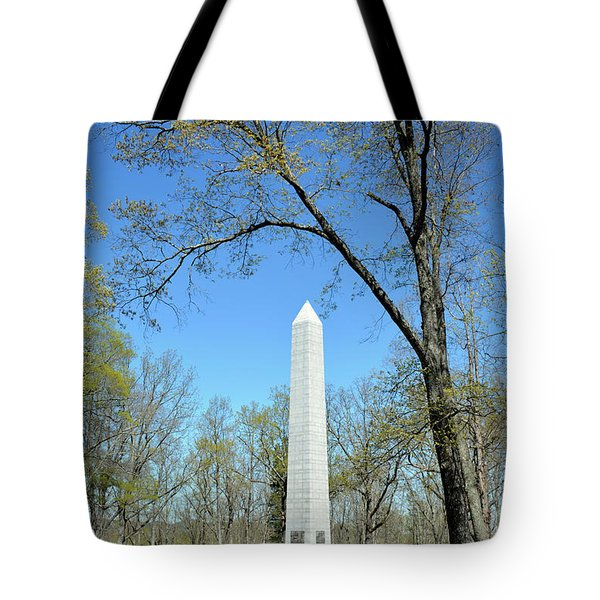 Kings Mountain National Military Park Monument Tote Bag by Bruce Gourley
