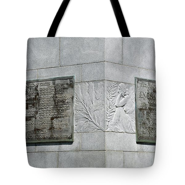 Kings Mountain Plaques Tote Bag by Bruce Gourley