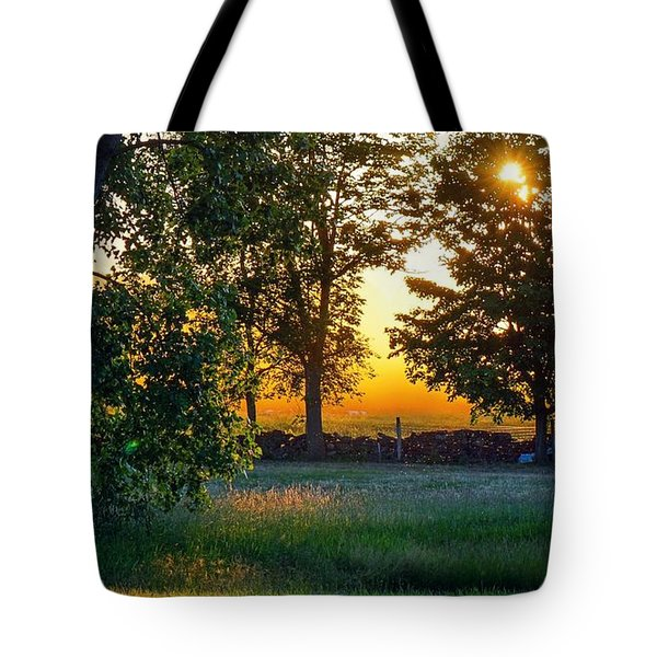 Tote Bag featuring the photograph Kingsbury Sunset by Kendall McKernon