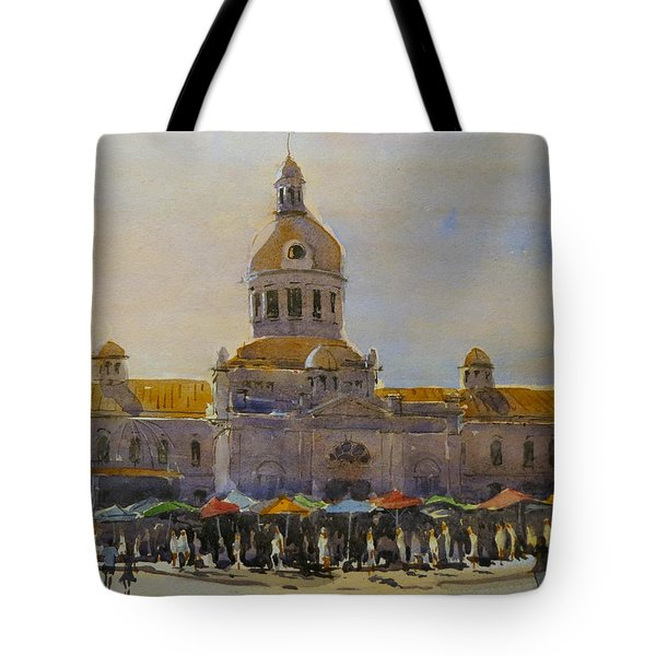 Kingston-city Hall Market Morning Tote Bag