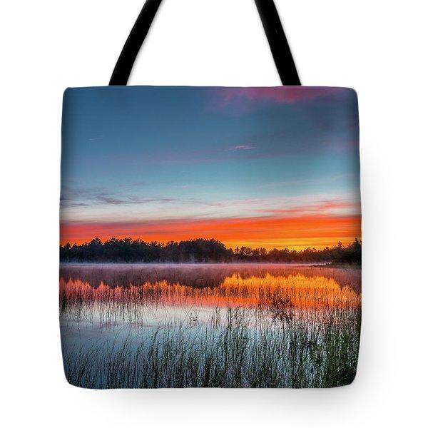 Kingston Lake Sunset Tote Bag