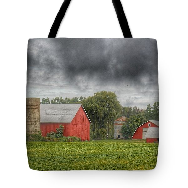 0022 - Kingston Road Red Trio I Tote Bag