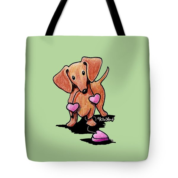 Kiniart Heartstrings Doxie Tote Bag