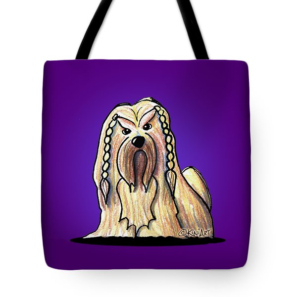 Kiniart Lhasa Apso Braided Tote Bag
