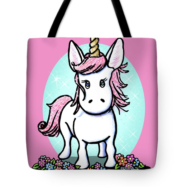 Kiniart Unicorn Sparkle Tote Bag