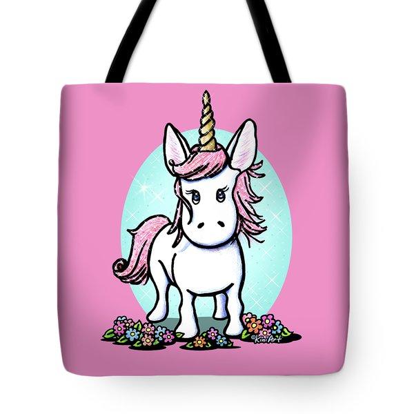 Kiniart Unicorn Sparkle Tote Bag by Kim Niles