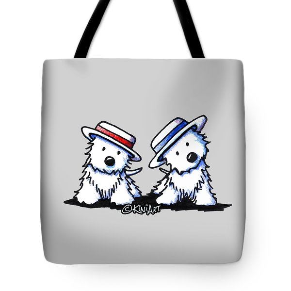 Kiniart Westie Dancing Duo Tote Bag