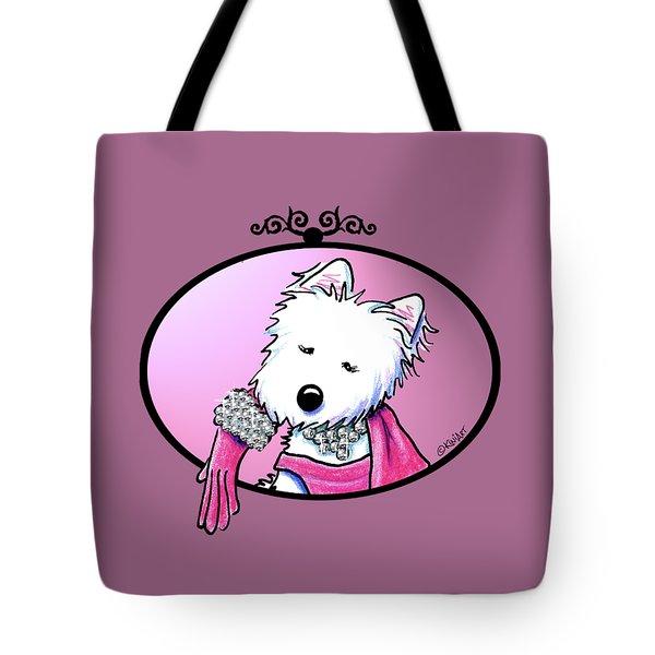 Kiniart Westie Glam Tote Bag by Kim Niles