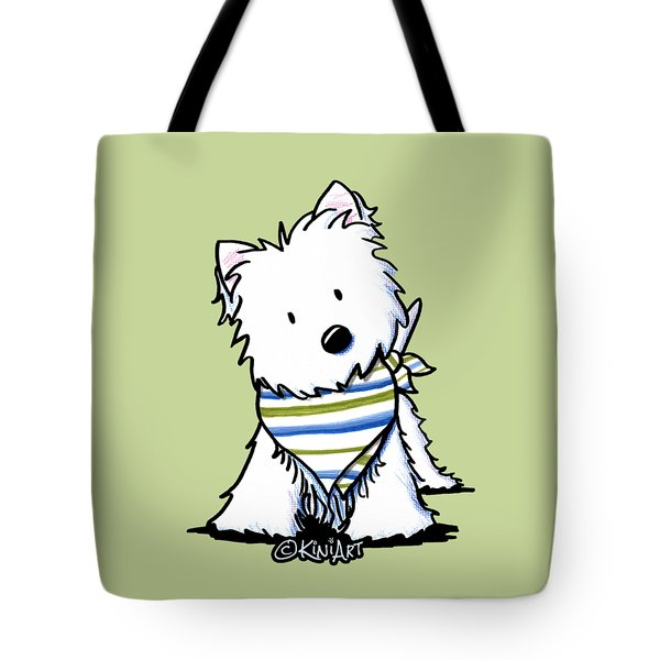 Kiniart Westie Terrier Tote Bag