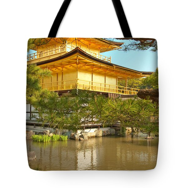 Kinkakuji Golden Pavilion Kyoto Tote Bag by Sebastian Musial