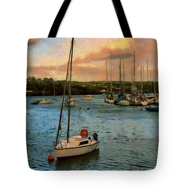 Tote Bag featuring the painting Kinsale Harbour Evening by Jeff Kolker
