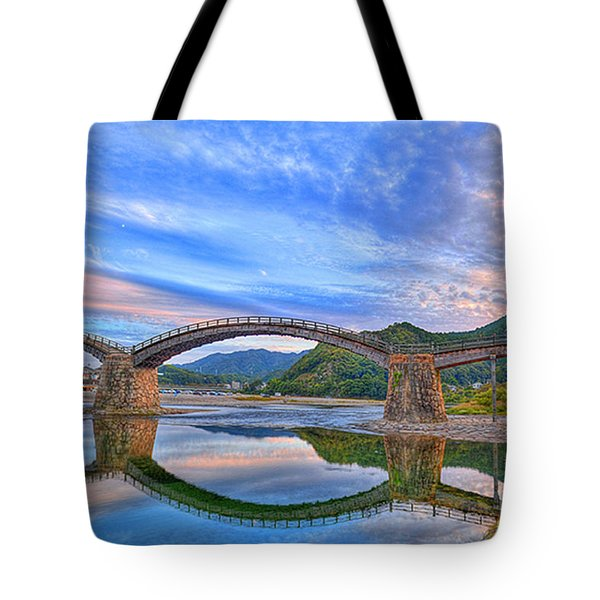 Kintai Bridge Japan Tote Bag