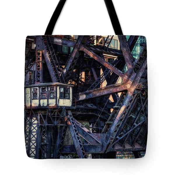 Kinzie Rail Bridge Detail Tote Bag