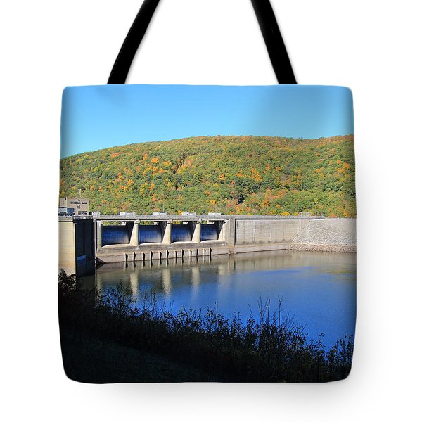 Tote Bag featuring the photograph Kinzua Dam by Rick Morgan