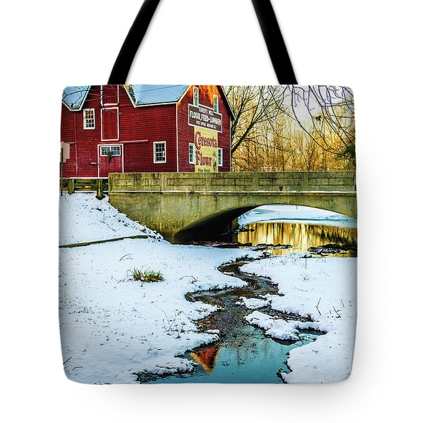 Tote Bag featuring the photograph Kirby's Mill Landscape - Creek by Louis Dallara