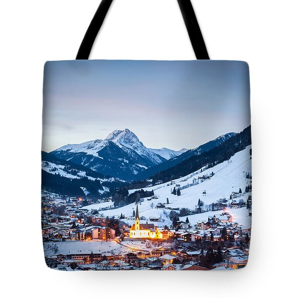 Kirchberg Austria In The Evening Tote Bag