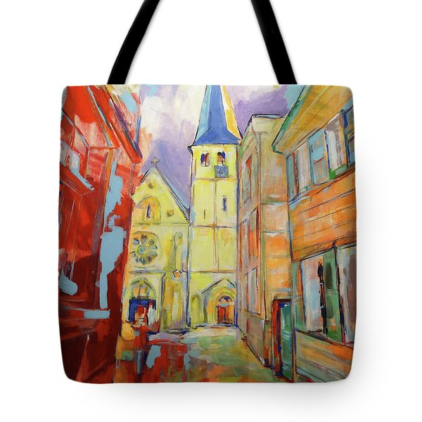 Kirche Und Altstadt Mettmann Tote Bag by Koro Arandia