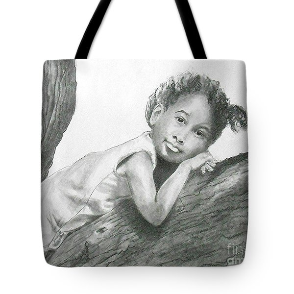 Kirikou, Dreaming -- Portrait Of Little African-american Girl Tote Bag