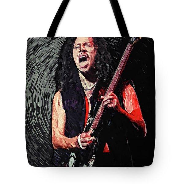 Kirk Hammett Tote Bag