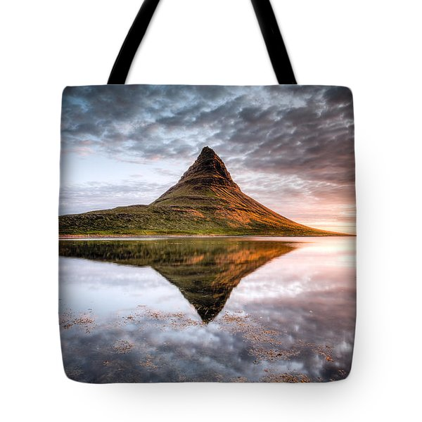 Kirkjafell Mountain Sunrise Tote Bag